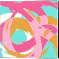 Pink Circular Strokes I Fine-Art Print