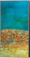Rustic Frieze on Teal II Fine-Art Print