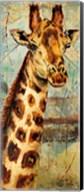 New Safari on Teal I Fine-Art Print