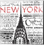 New York Words Fine-Art Print