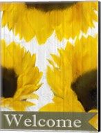 Sunflowers Welcome Fine-Art Print