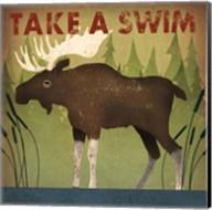 Take a Swim Moose Fine-Art Print
