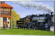Engine #90 At The Switch Tower, Strasburg Pa Fine-Art Print
