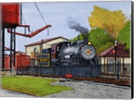 Engine #90 At The Water Tower, Strasburg Pa Fine-Art Print