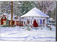 Gazebo At Ellicottville, Winter Fine-Art Print