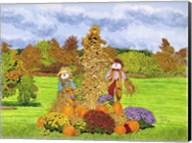 Pumpkins And Scarecrows, Eden Ny Fine-Art Print