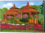 Two Gazebos, Hershey Pa Fine-Art Print