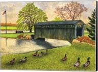 Winter's Covered Bridge, North Collins Ny Fine-Art Print