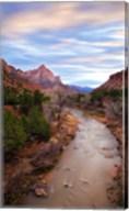 Zion River Vert Fine-Art Print