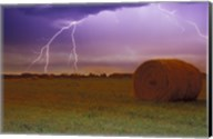 Lightning Over Hay Fields Fine-Art Print