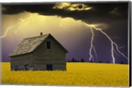 Old House with Lightning Fine-Art Print
