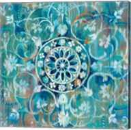 Mandala in Blue I Fine-Art Print