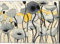 Snow Day Gray Flower Fine-Art Print