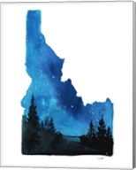 Idaho State Watercolor Fine-Art Print