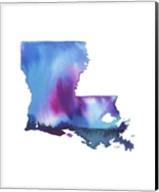 Louisiana State Watercolor Fine-Art Print