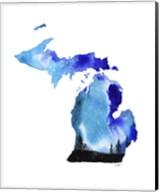 Michigan State Watercolor Fine-Art Print