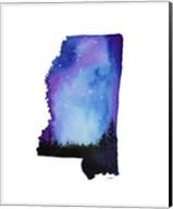 Mississippi State Watercolor Fine-Art Print