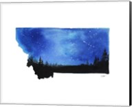 Montana State Watercolor Fine-Art Print