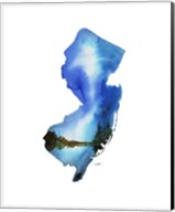 New Jersey State Watercolor Fine-Art Print