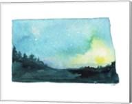 North Dakota State Watercolor Fine-Art Print