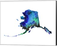 Alaska State Watercolor Fine-Art Print