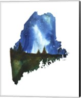 Maine State Watercolor Fine-Art Print