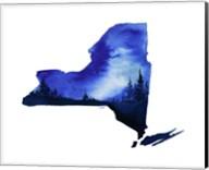New York State Watercolor Fine-Art Print