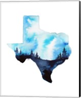 Texas State Watercolor Fine-Art Print