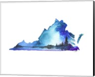 Virginia State Watercolor Fine-Art Print