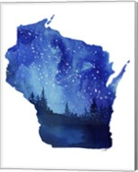 Wisconsin State Watercolor Fine-Art Print