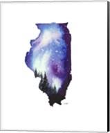 Illinois State Watercolor Fine-Art Print