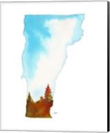 Vermont State Watercolor Fine-Art Print