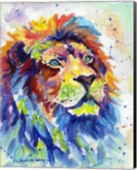 Colorful African Lion Fine-Art Print