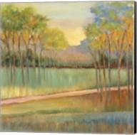 Road Through Blue Fields Fine-Art Print