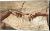 Creation Of Adam (detail of hands) Fine-Art Print