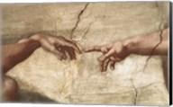 Creation Of Adam (detail of hands) Fine-Art Print