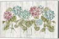 Vibrant Row of Hydrangea on Wood Fine-Art Print