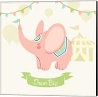 Little Circus Elephant Pastel Fine-Art Print