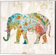 Boho Paisley Elephant II Fine-Art Print