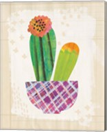 Collage Cactus II on Graph Paper Fine-Art Print