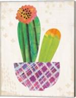 Collage Cactus II on Graph Paper Fine-Art Print