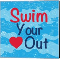 Swim Your Heart Out - Girly Fine-Art Print