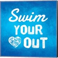Swim Your Heart Out - Blue Fine-Art Print