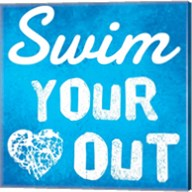 Swim Your Heart Out - Blue Fine-Art Print