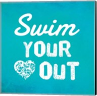 Swim Your Heart Out - Teal Fine-Art Print