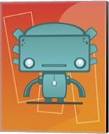 Retro Robot Aqua Fine-Art Print