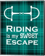 Riding is My Sweet Escape - Green Fine-Art Print