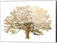 Gold Foil Elephant Tree - Metallic Foil Fine-Art Print