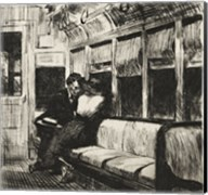 Night on the El Train, 1918 Fine-Art Print