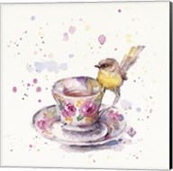 Tea Time (Eastern Yellow Robin) Fine-Art Print